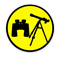 Binoculars and telescopes yellow icon.png