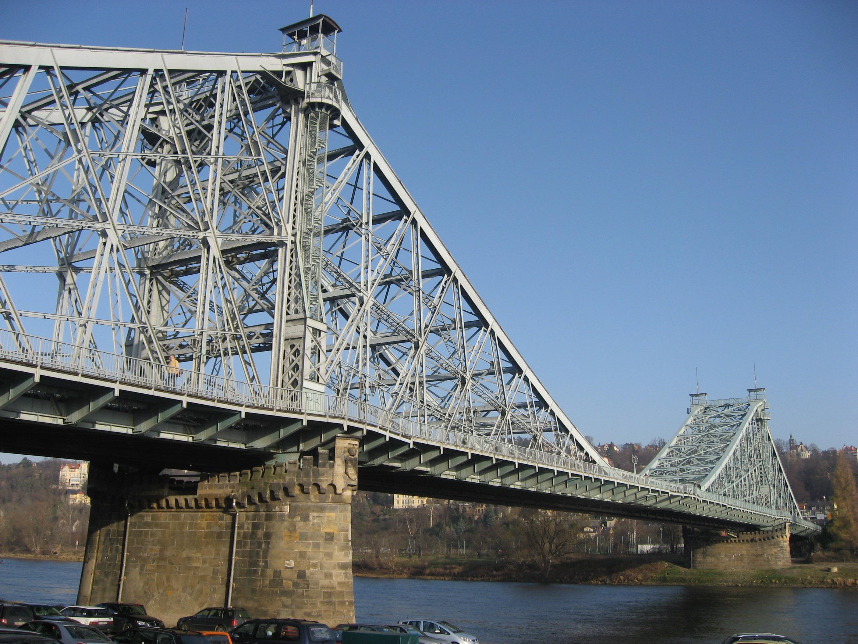 Loschwitz Bridge, Dresden, Saxony, Germany