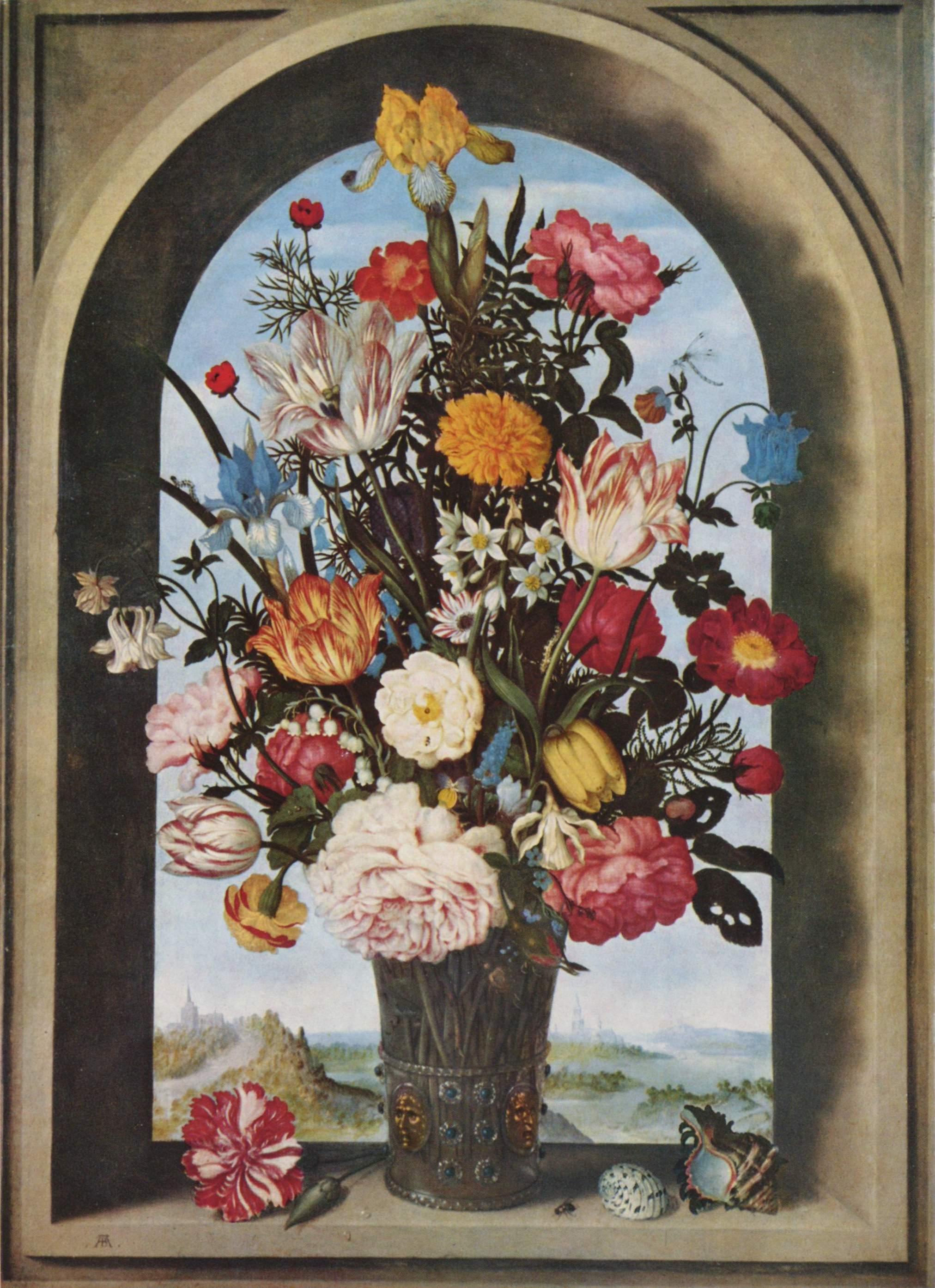Ambrosius bosschaert bouquet de fleurs mauritshuis for Bouquet de fleurs wiki