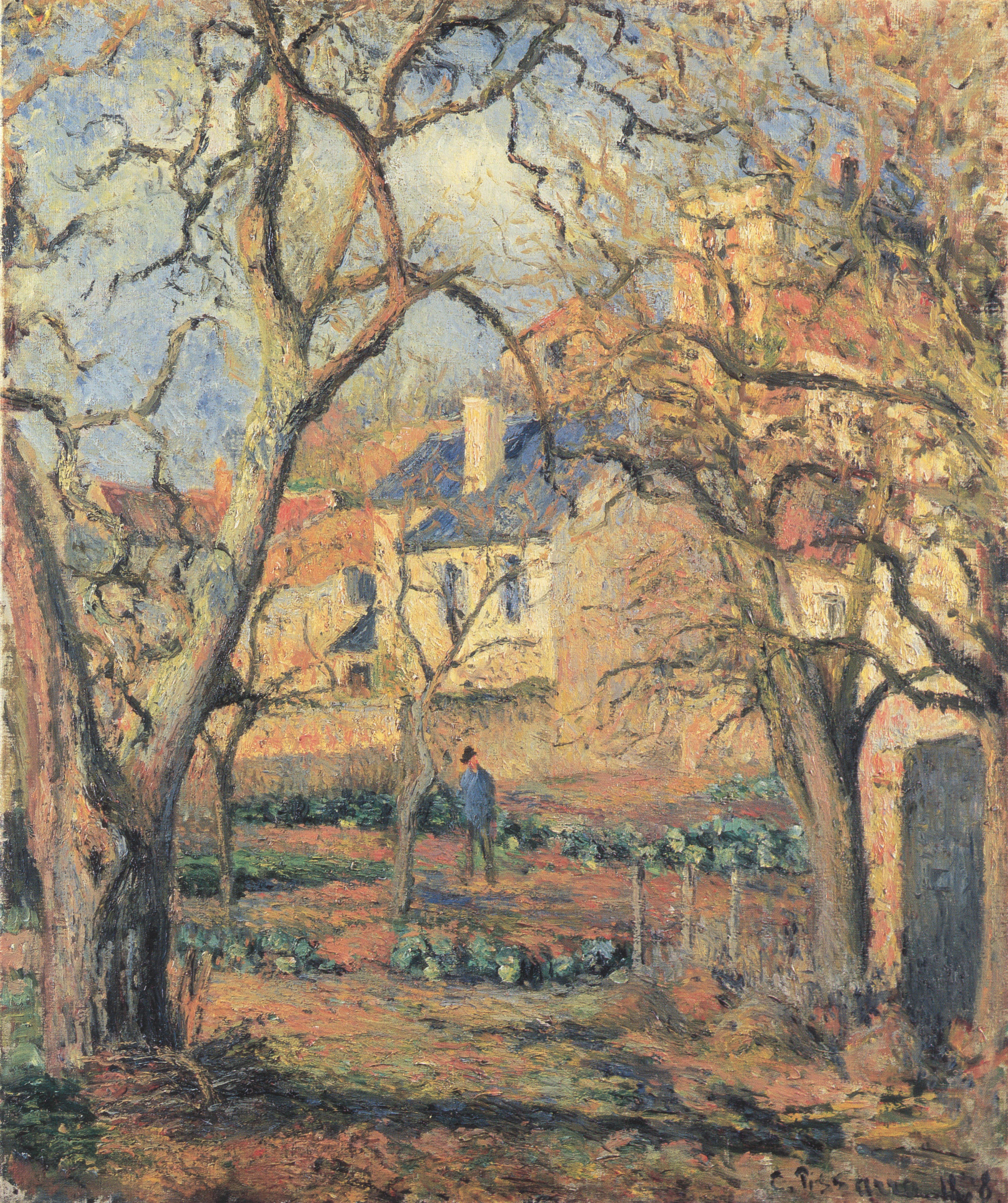 File Camille Pissarro La Jardin potager  L´Hermitage 1878