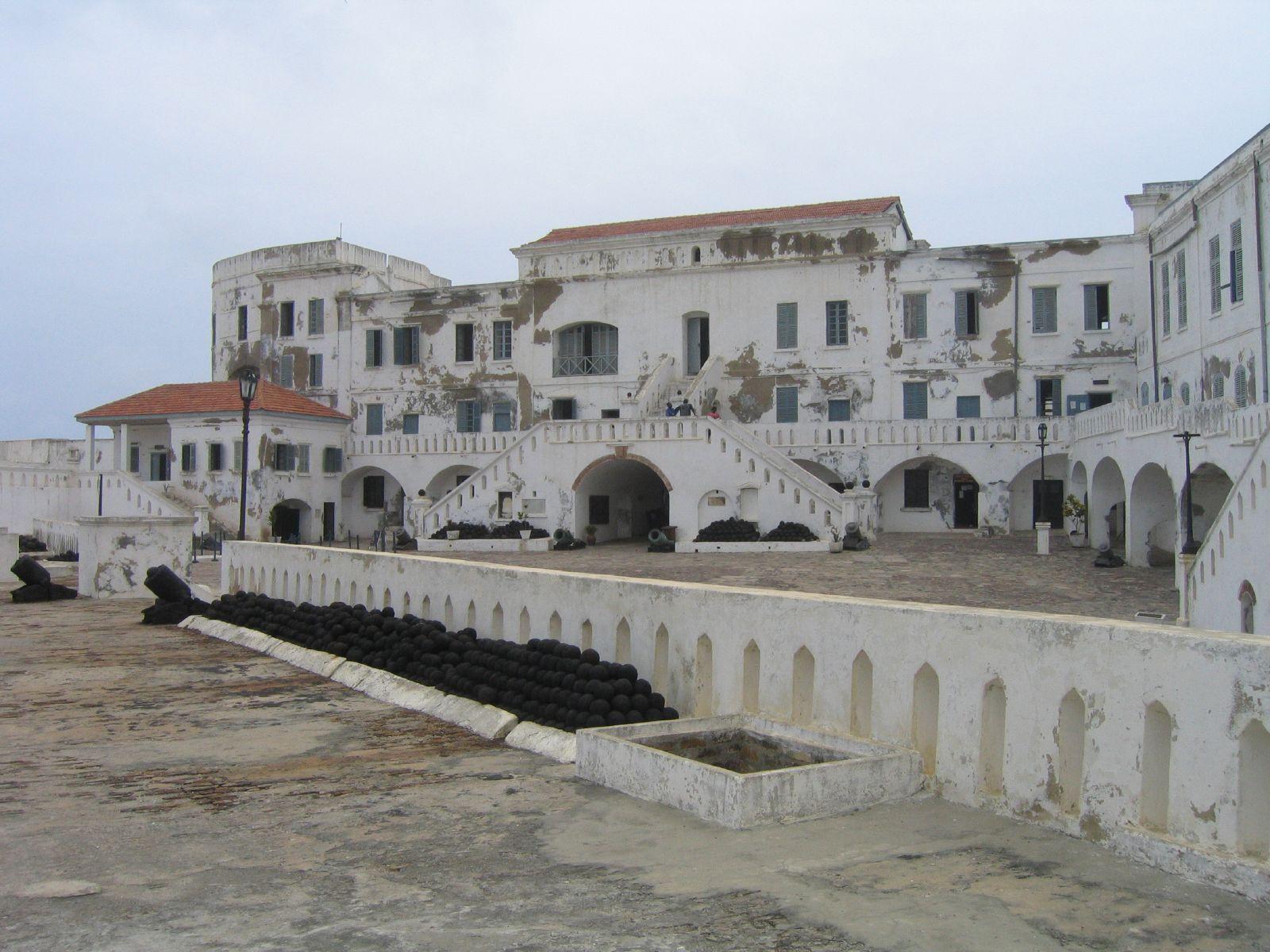 Cape Coast Castle, Ghana. Uitvalsbasis voor de transatlantische slavenhandel