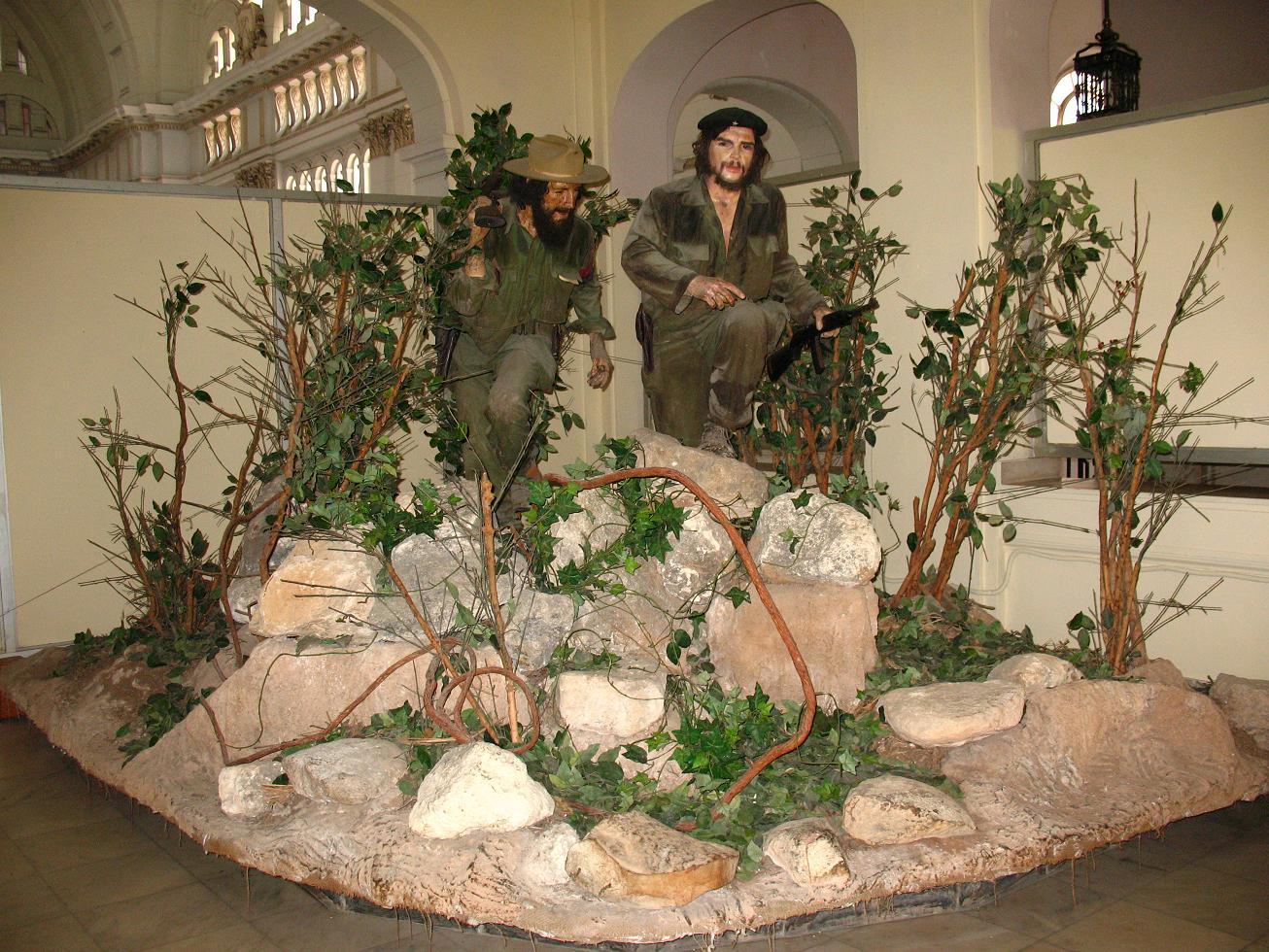 El Che y Camilo Cienfuegos en el Museo de la Revolución de La Habana.