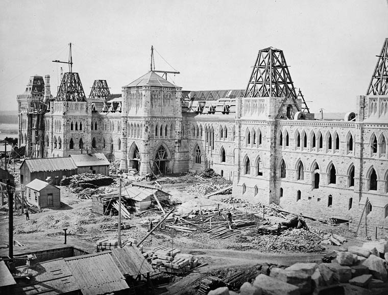 Construction of central parliament building