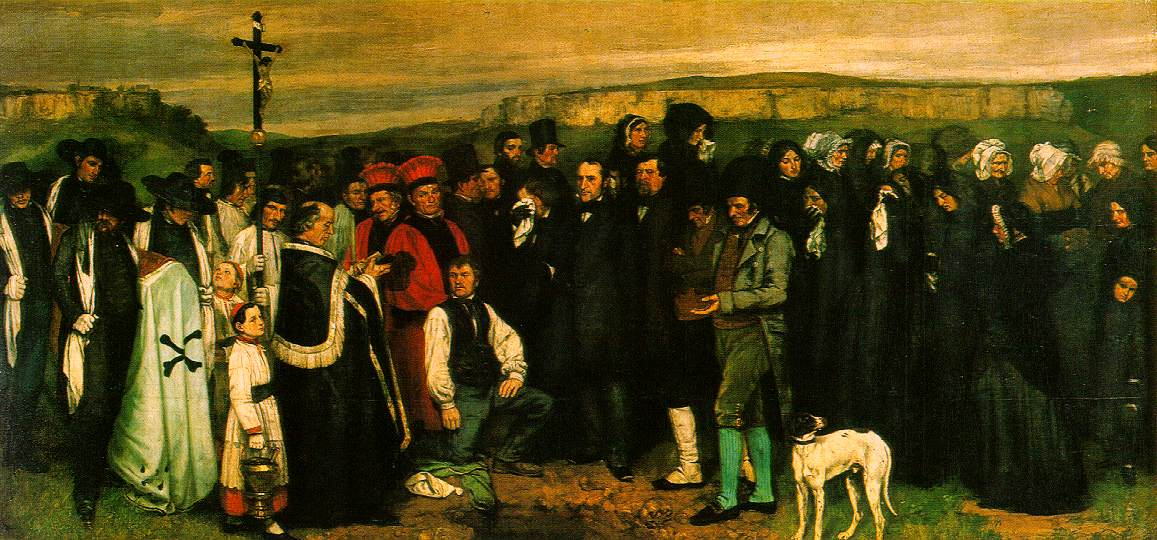 Gustave Courbet Burial At Ornans | RM.