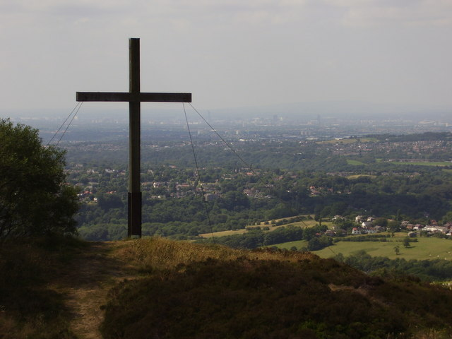 Cross on Top of Mellor Moor - geograph.org.uk - 200894