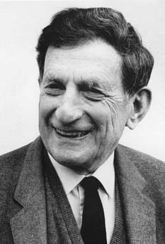 Photograph of David Bohm, taken from this page.