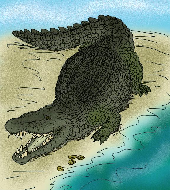Depiction of Deinosuchus