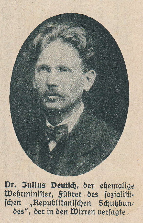 Austrian social democratic politician and founder of the anti-fascist Austrian Schutzbund