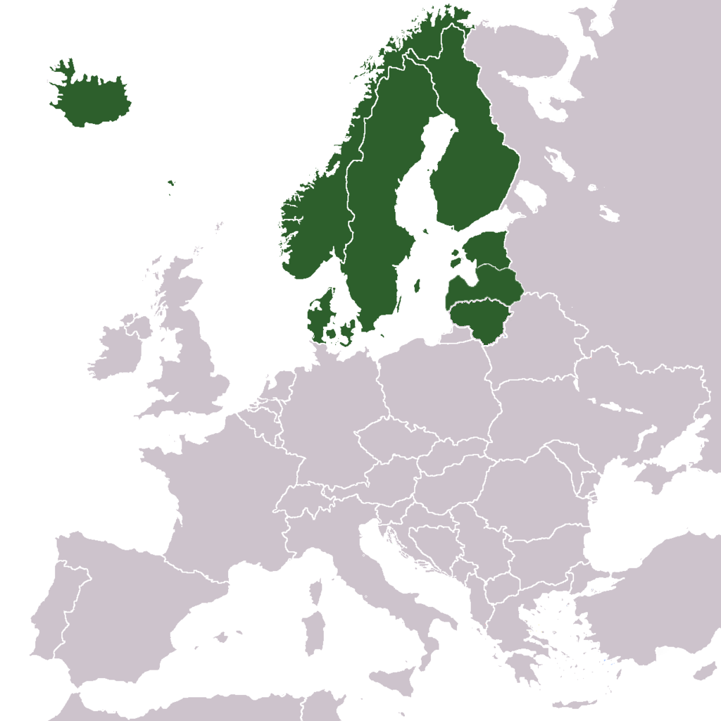 Captivating File:Europe North European Countries Map.png