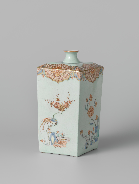 File fles vierkant met polychrome decoratie van hoho for Decoratie fles