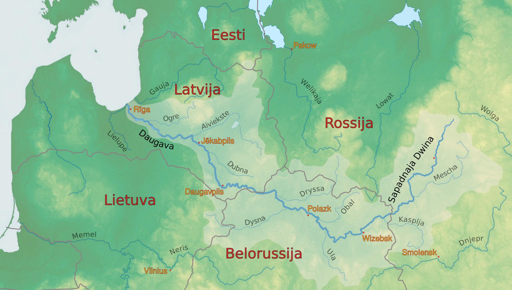 Двина где находится