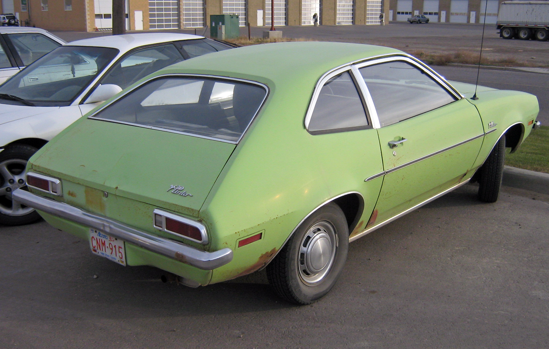Ford Pinto Wikipedia Ranchero Ignition Condition Modified Mustangs Fords 19711972 Sedan With Enclosed Trunk