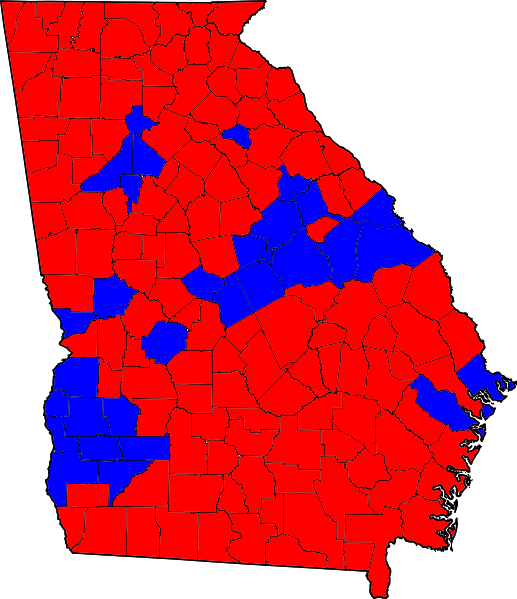 FileGeorgia Senatorial Runoff Election Results By County
