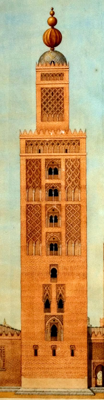 Le minaret de la Giralda à Séville à l'époque almohade.