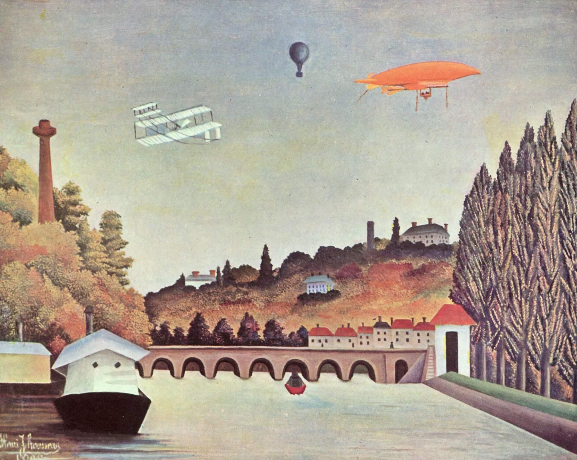 Henri Rousseau: Vue du pont de Sèvres