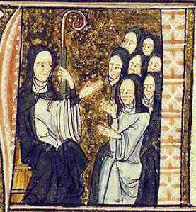 Hildegard of Bingen and her nuns Hildegard of bingen and nuns.jpg