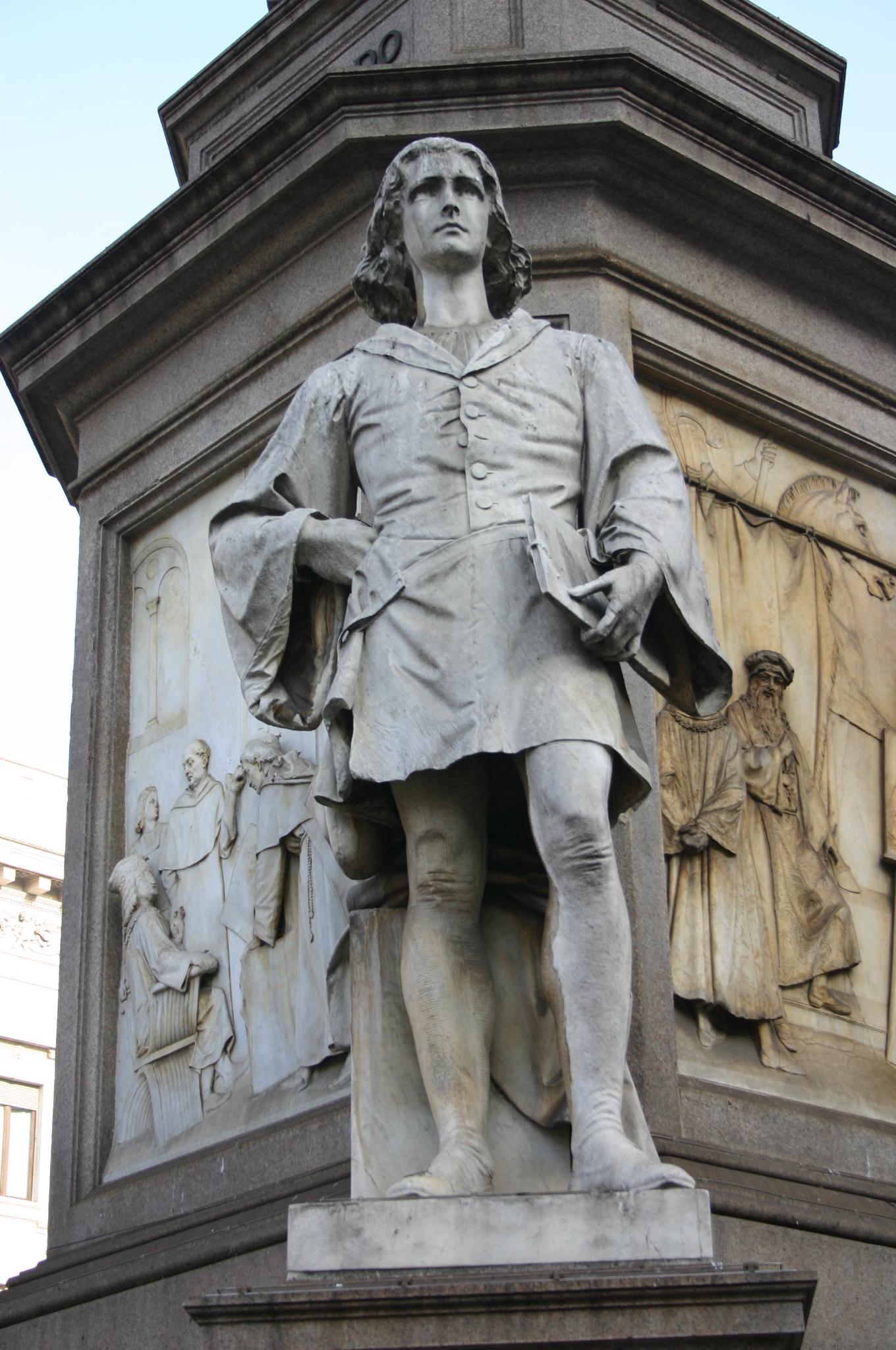File:IMG 4300 - Milano, Monumento a Leonardo - Marco d\'Oggiono ...