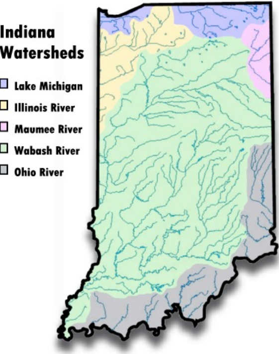 FileIndianaWatershedsmaplargejpg Wikimedia Commons - Indiana rivers map