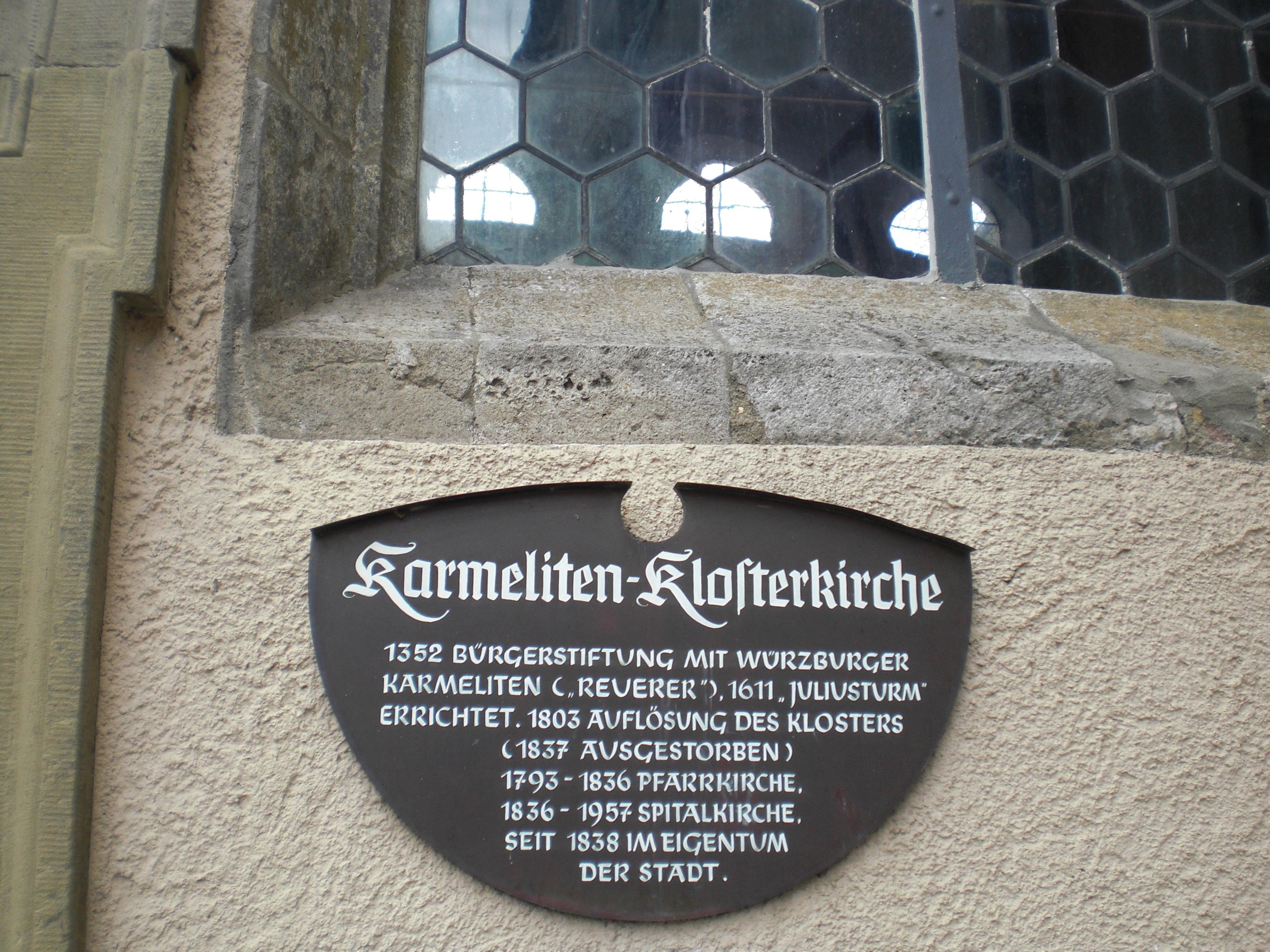 File Informationstafel An Der Karmeliten Klosterkirche In