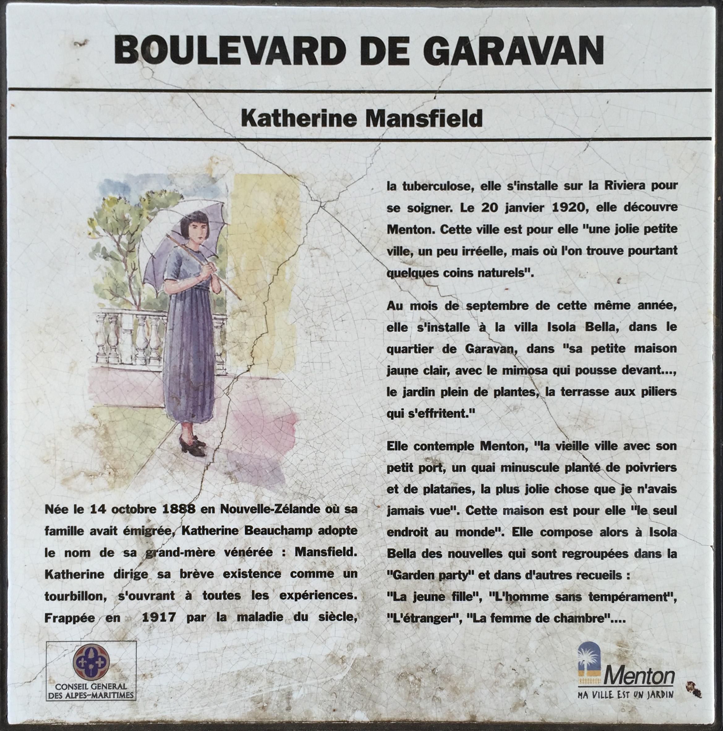 Le Jardin De Grand Mere file:katherine mansfield plaque - wikimedia commons