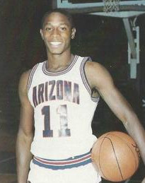 Lofton as a member of the Arizona Wildcats men's basketball team, circa 1987
