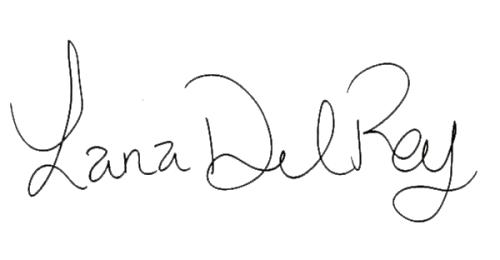 Lana Del Rey signature