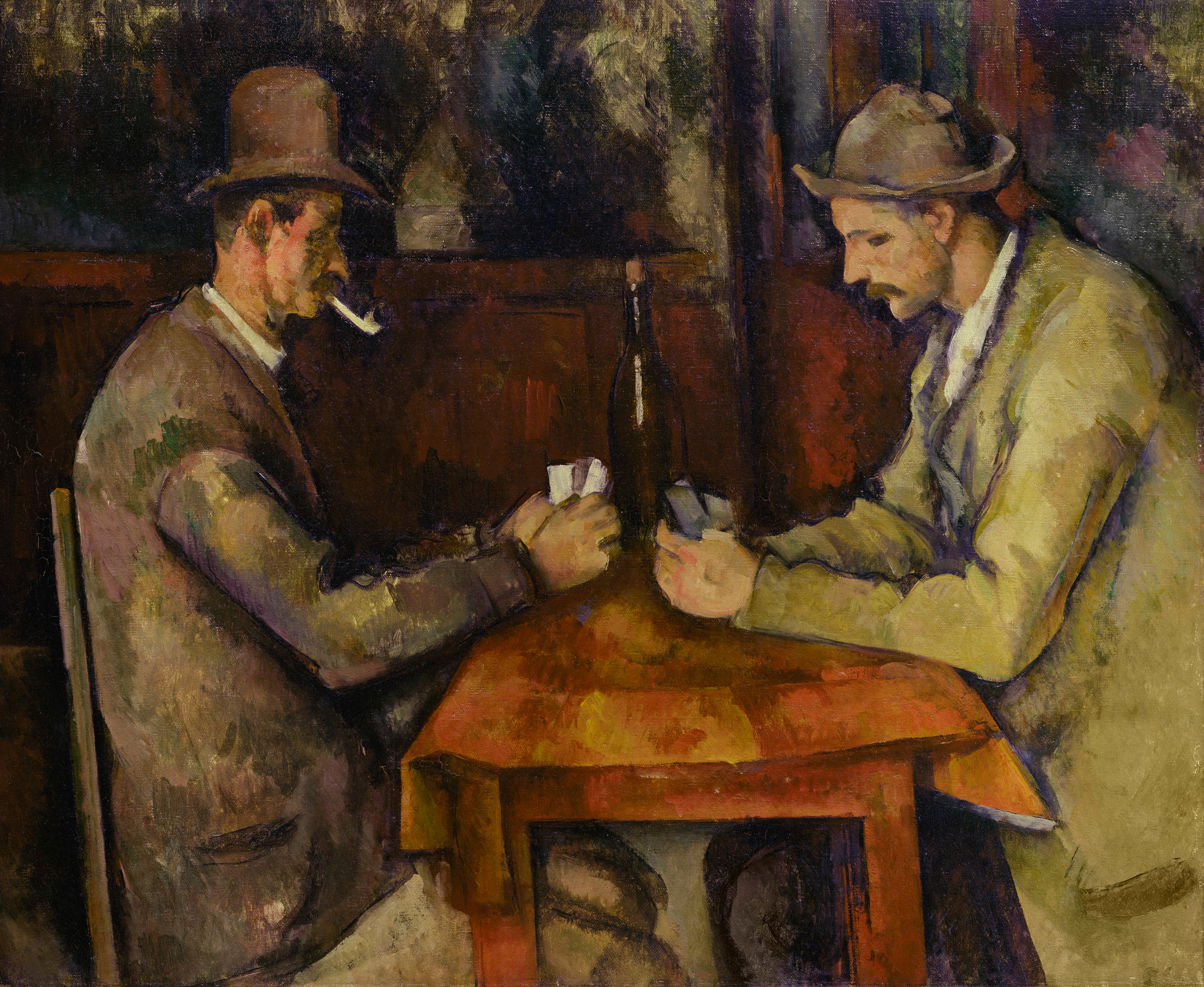 """/""""The Card Player/"""" Framed Print  by Paul Cezanne"""
