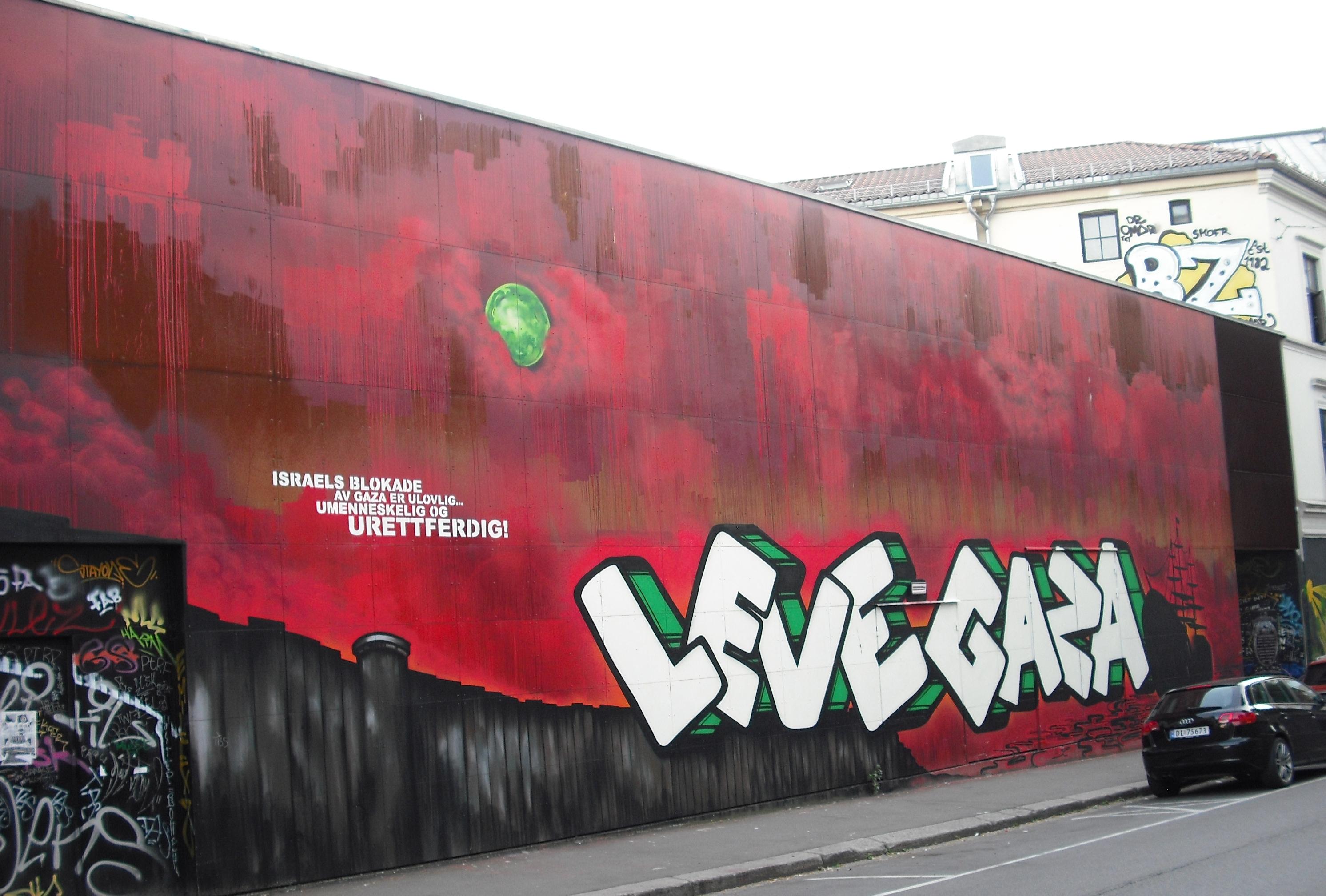 Grafitti art oslo - File Leve Gaza Graffiti In Oslo Jpg