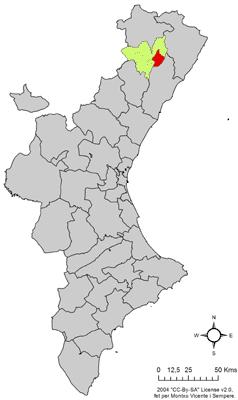 Vị trí của Albocácer