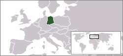 Vokietijos Demokratinė Respublika žemėlapyje