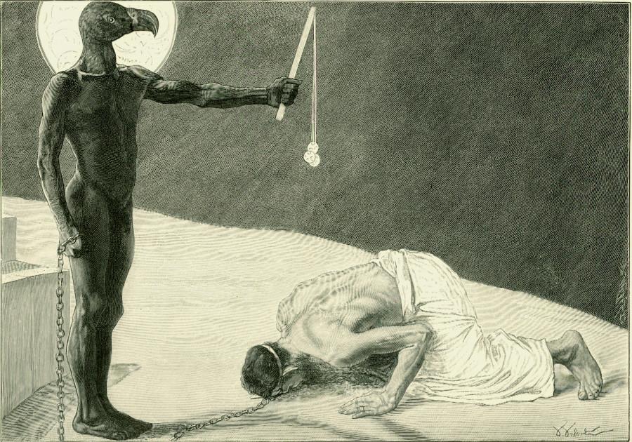 Mammon and his slave/ Der Mammon und sein Sklave (Sascha Schneider, 1896)