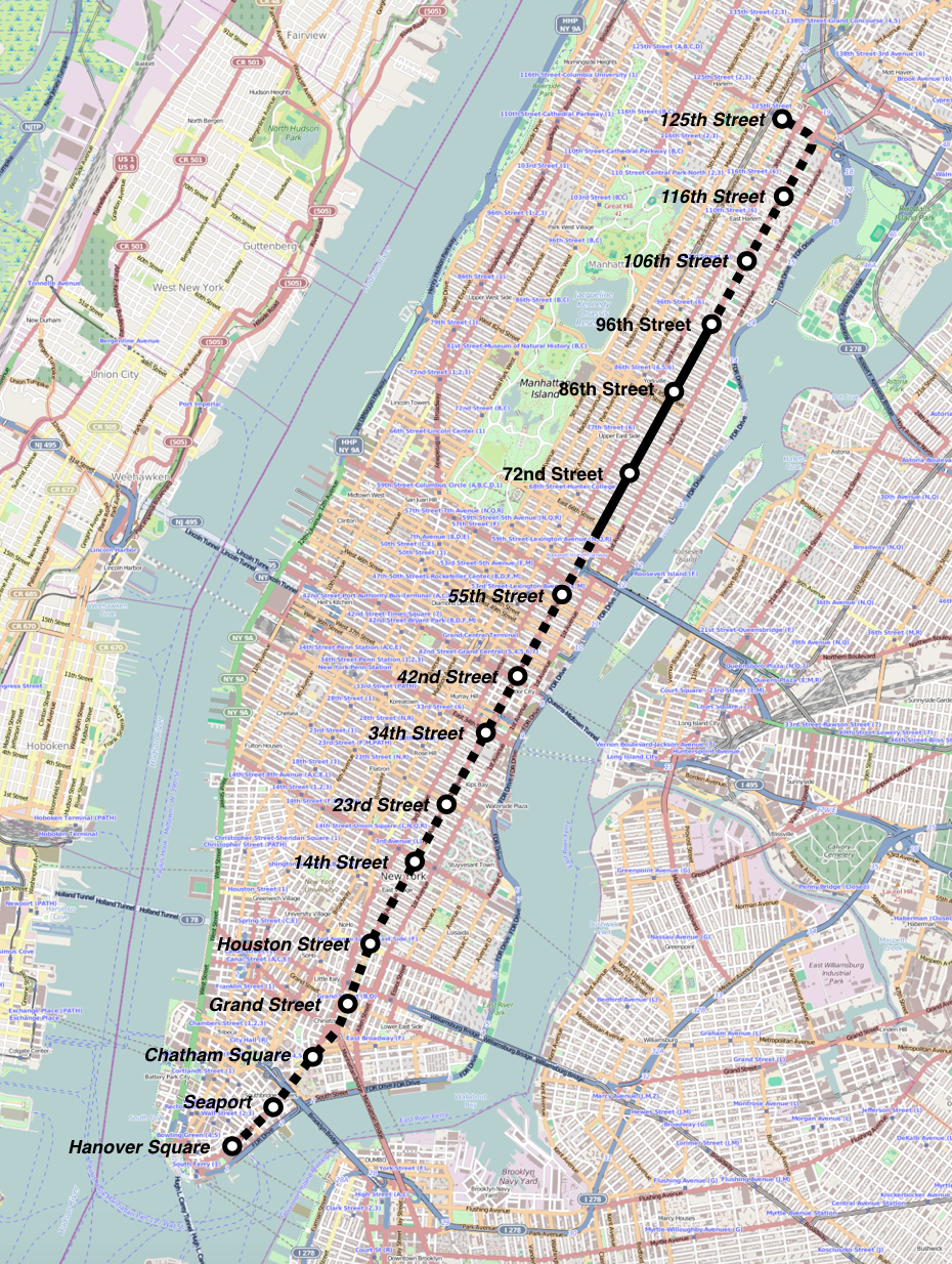 New Second Avenue Subway Map.File Mappa Second Avenue Subway Png Wikimedia Commons