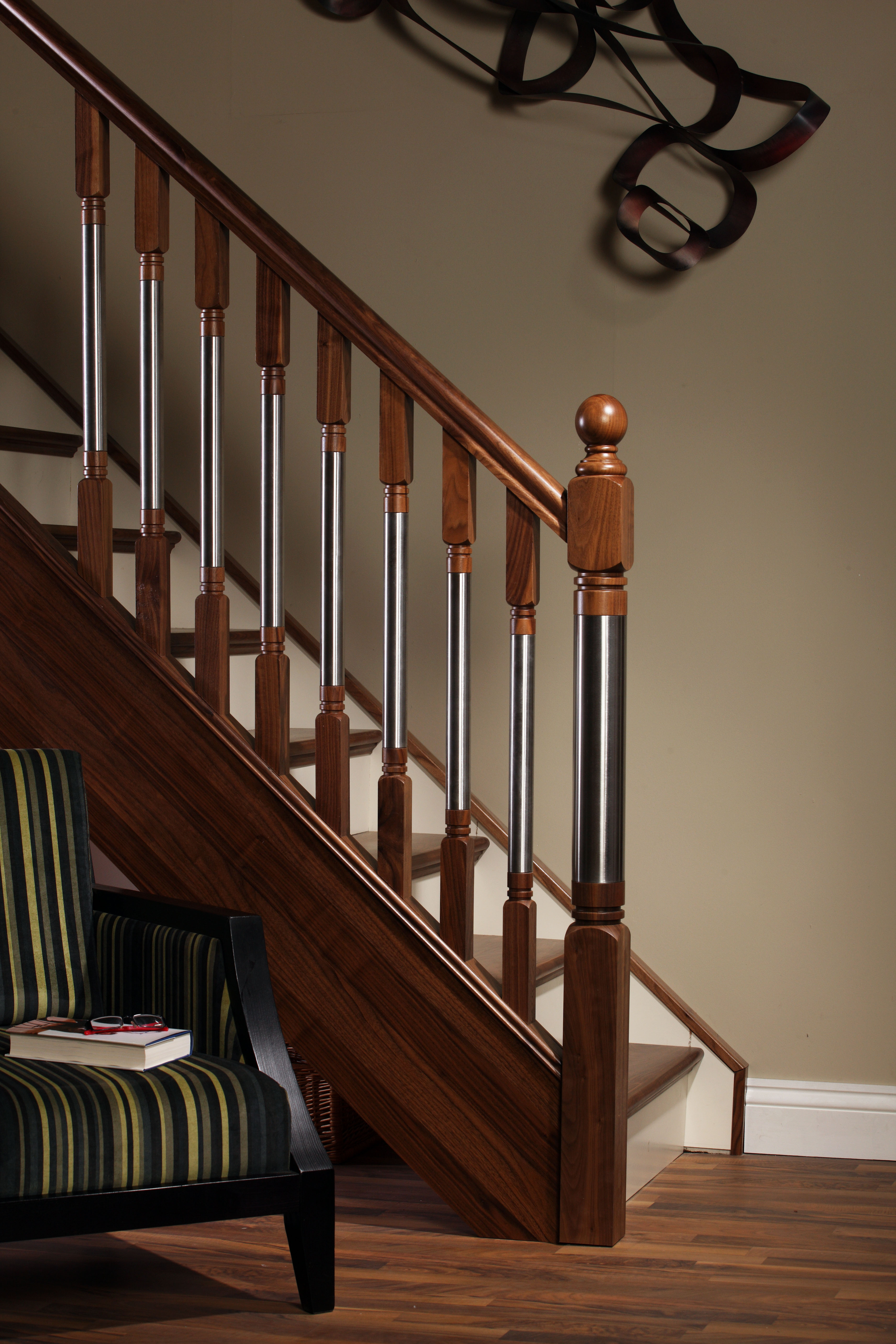 File:Modern Staircase Erne Collection Spindles And Newel Posts With Metal  Insert