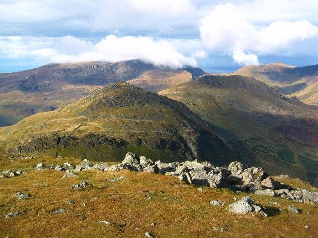 Moel yr Ogof, Moel Lefn, and the Nantlle Ridge - geograph.org.uk - 72485