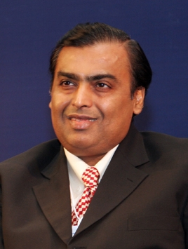Mukesh Ambani at the India Economic Summit 2007