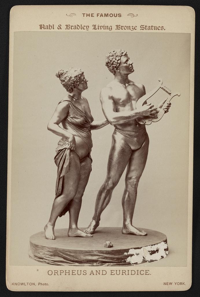 Любовь Орфея и Эвридики в искусстве и поэзии Часть Обсуждение  orpheus and euridice living statues 1895 jpg