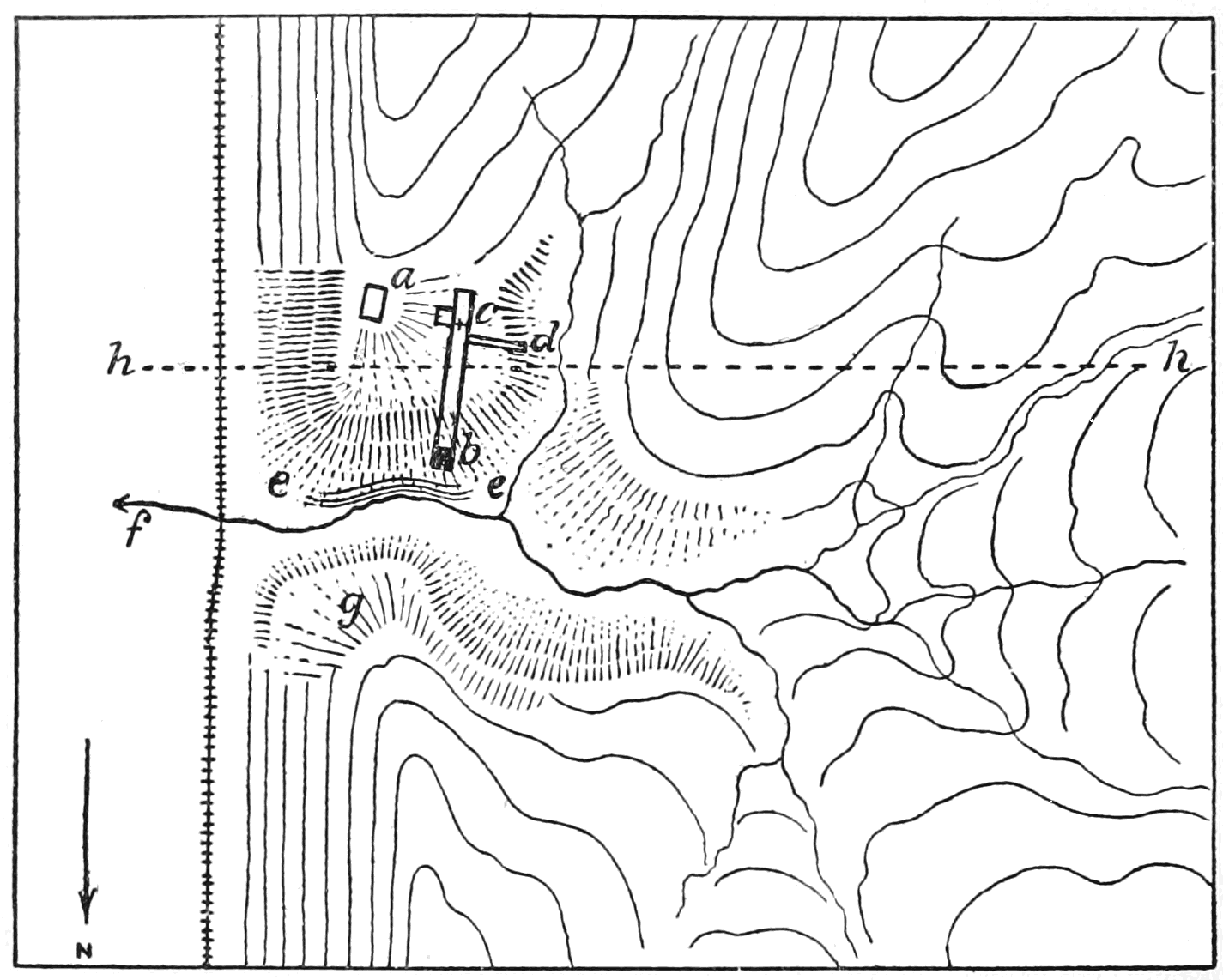 PSM V62 D470 Sketch map of the lansing site.png