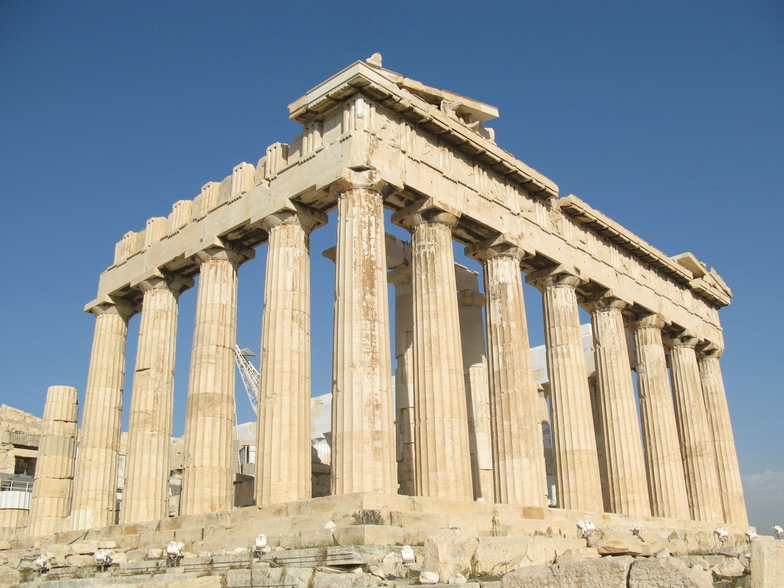 an analysis of the ancient building of the parthenon on the acropolis of athens The word acropolis derives from the greek words meaning upper city  the  acropolis of athens is an ancient citadel with some remains of ancient  the  parthenon, an excellent example of the doric order of architecture, was.