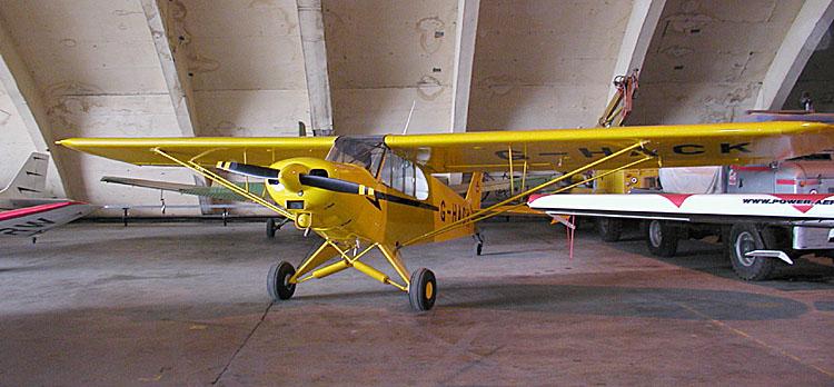 The Piper J3 Cub airplane has