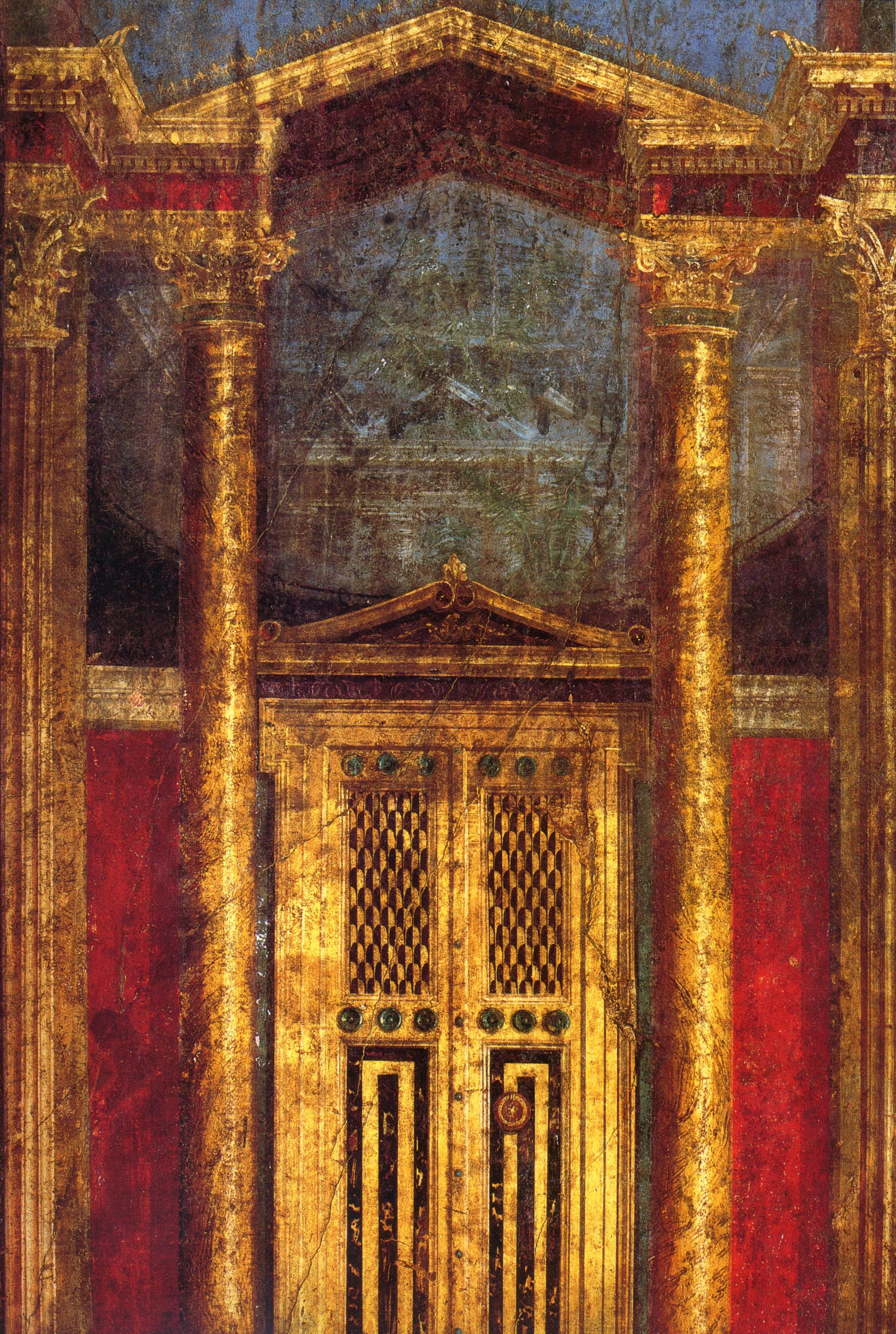 File pompeii villa dei misteri cubiculum for Ancient mural villa