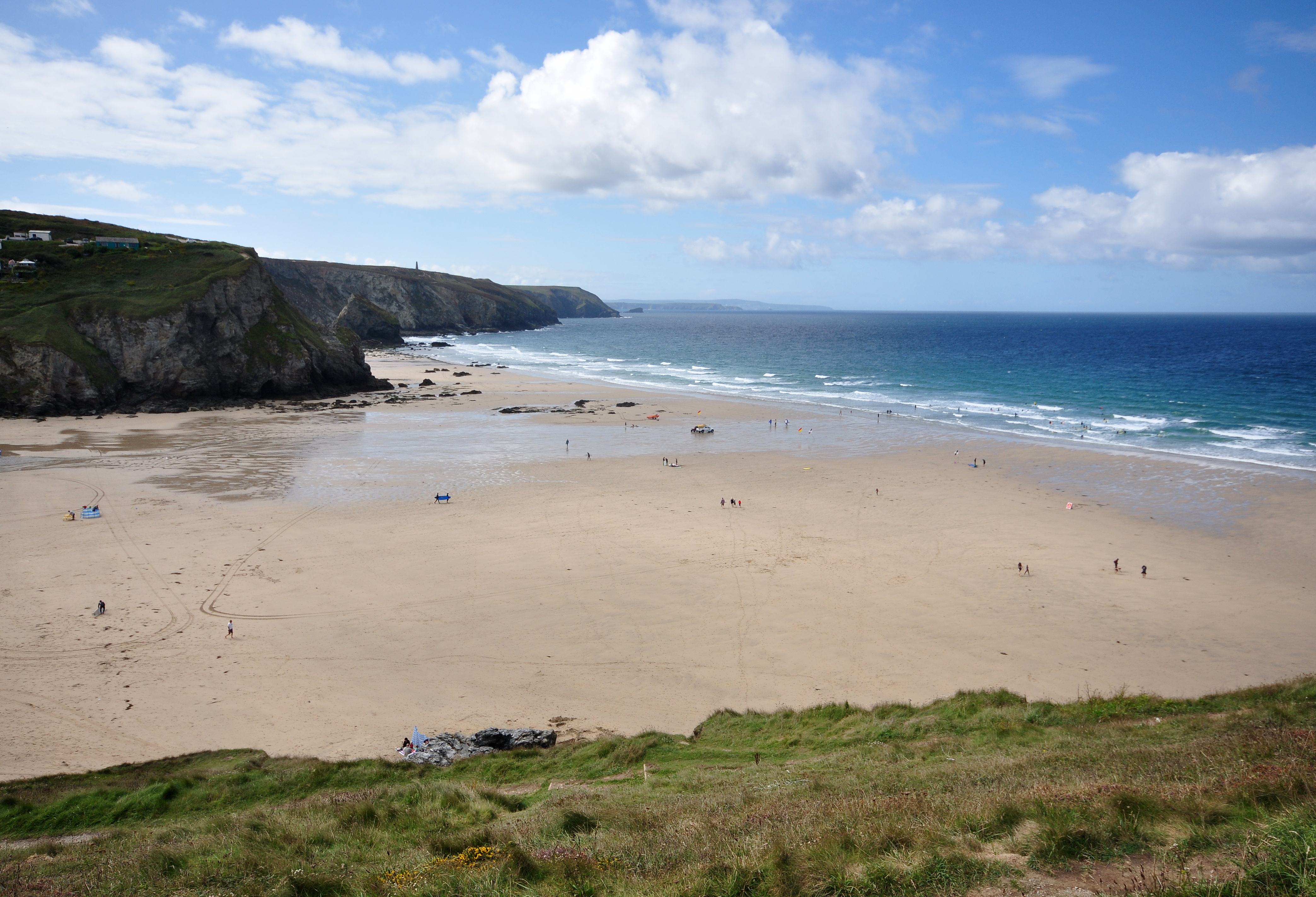 File:Porthtowan beach.jpg Beach