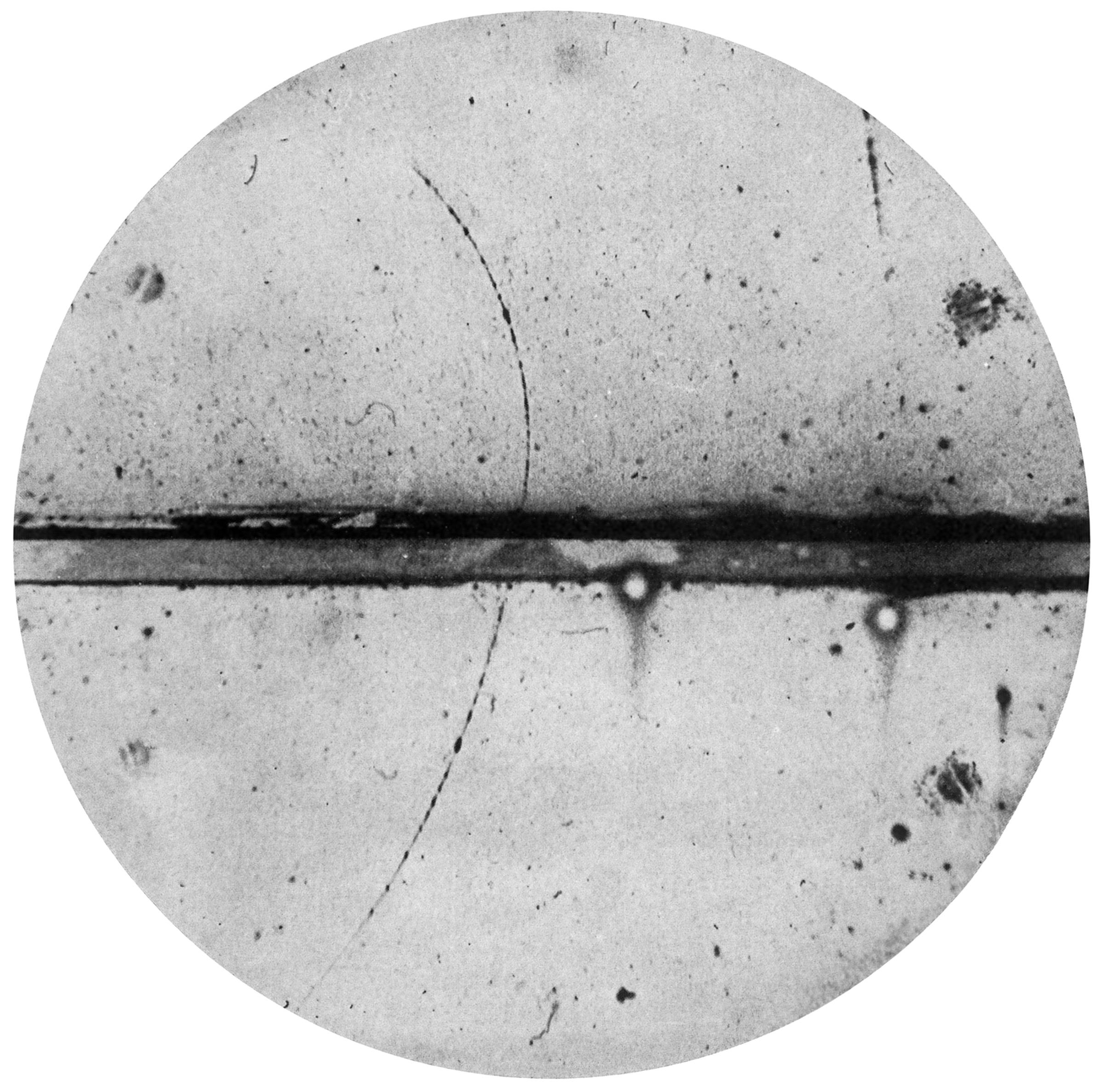Original positron track