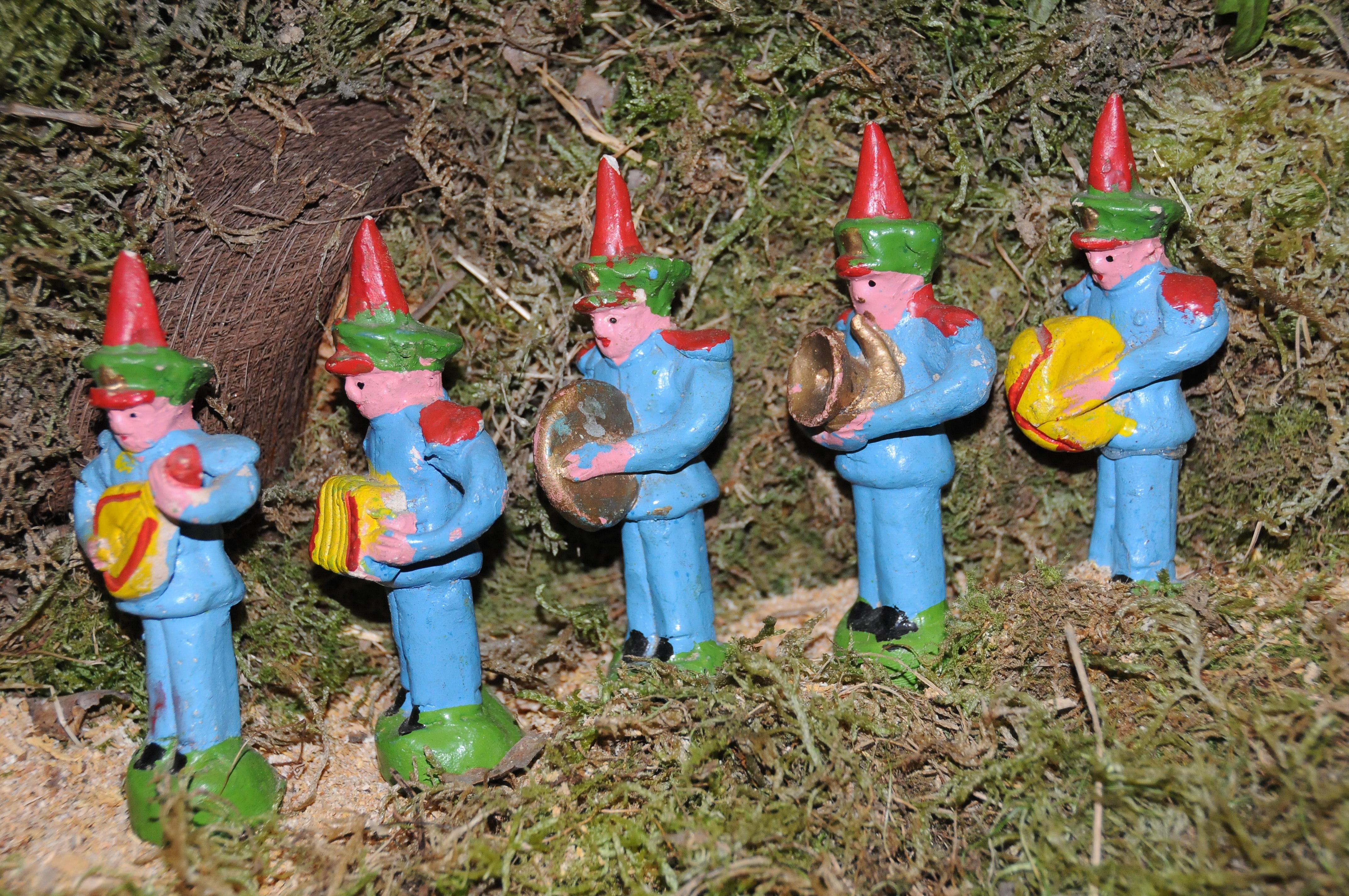 Representação de uma banda de música no Presépio Tradicional Português.