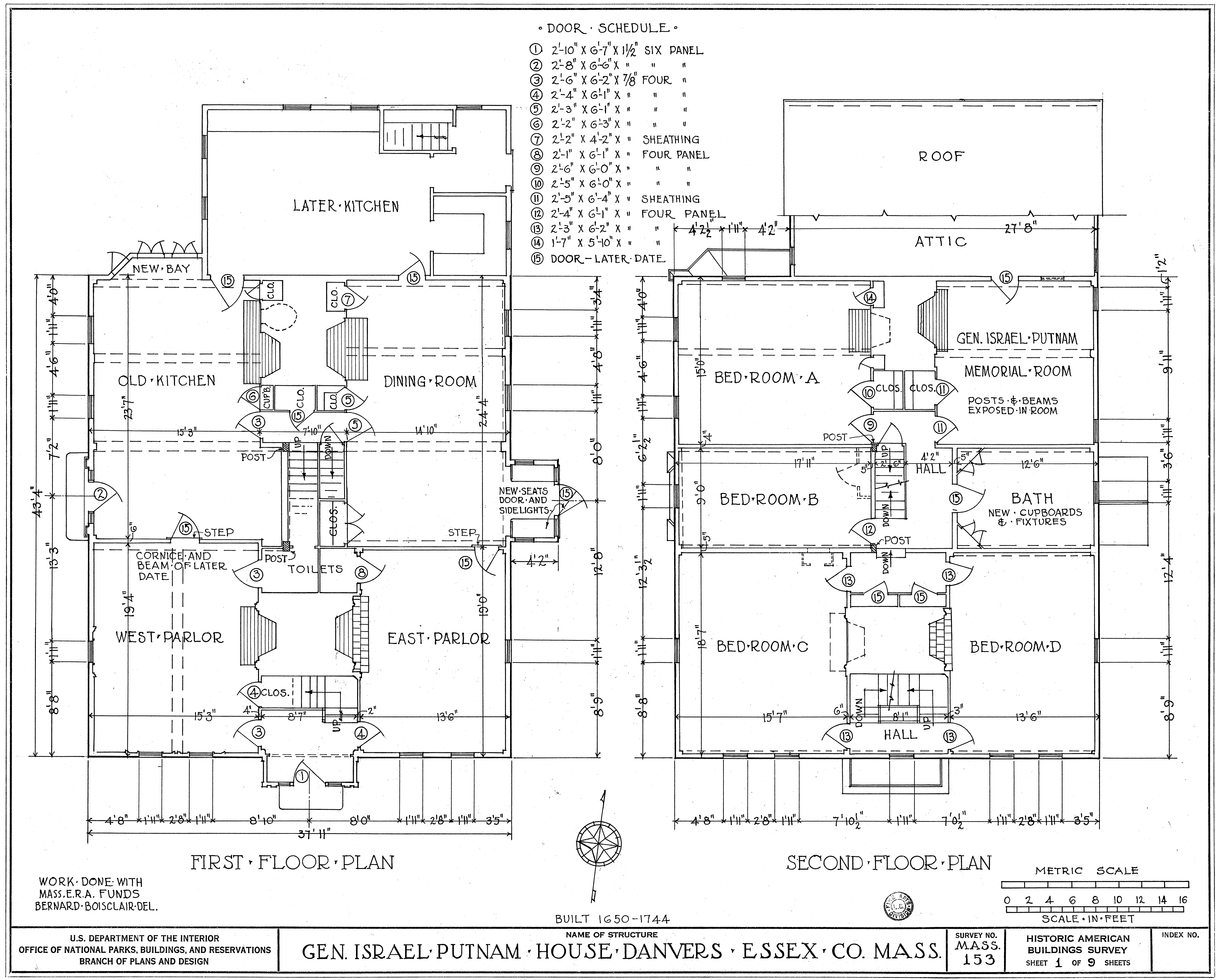 Description Putnam House - floor plans.jpg
