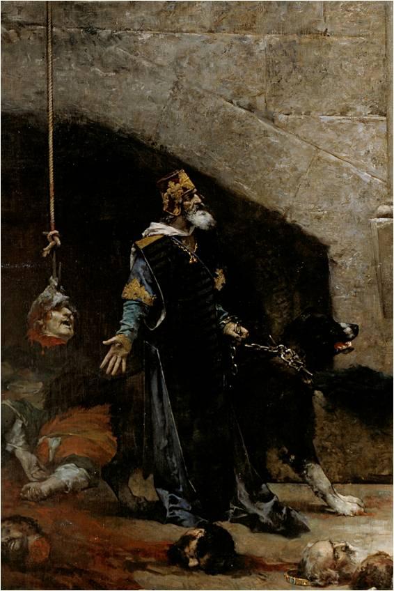 Ramiro II de Aragón. Detalle de La Campana de Huesca (José Casado del Alisal).jpg