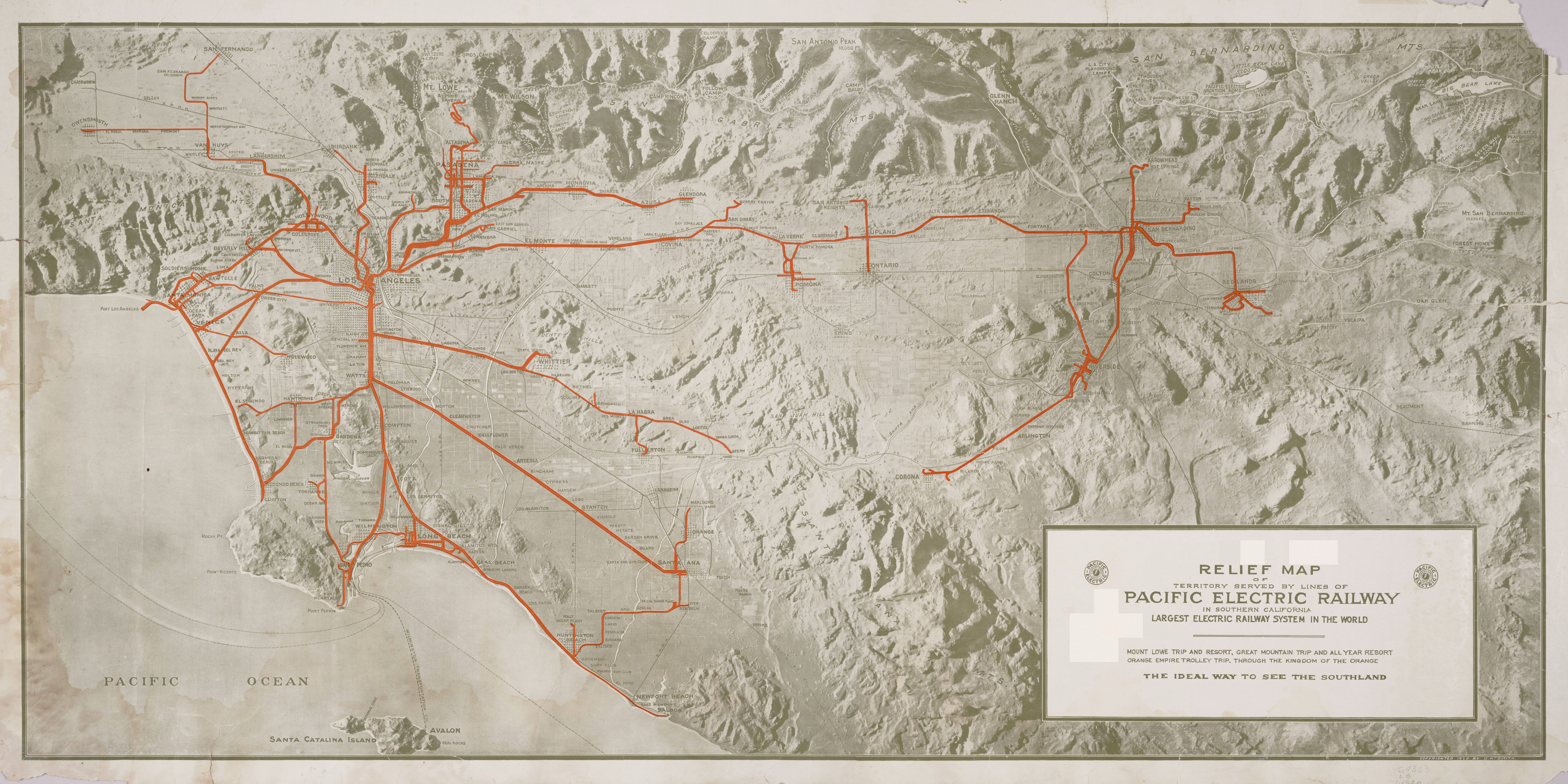 pacific electric railway map File Relief Map Pacific Electric Railway Jpg Wikipedia pacific electric railway map