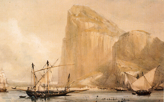 Archivo:Rock of Gibraltar 1810.jpg