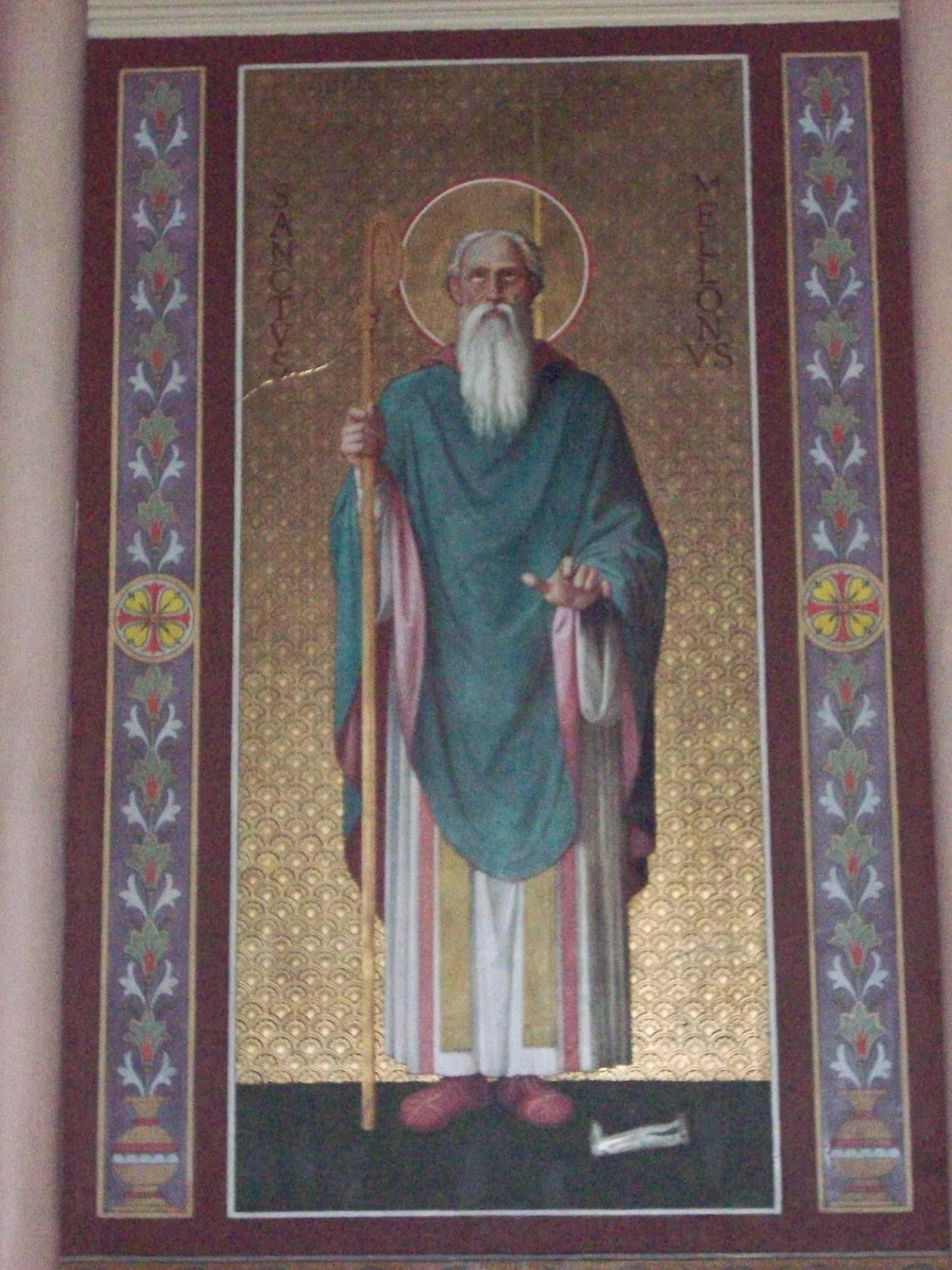 Freske av Mellonius i kirken Saint-Gervais i Rouen