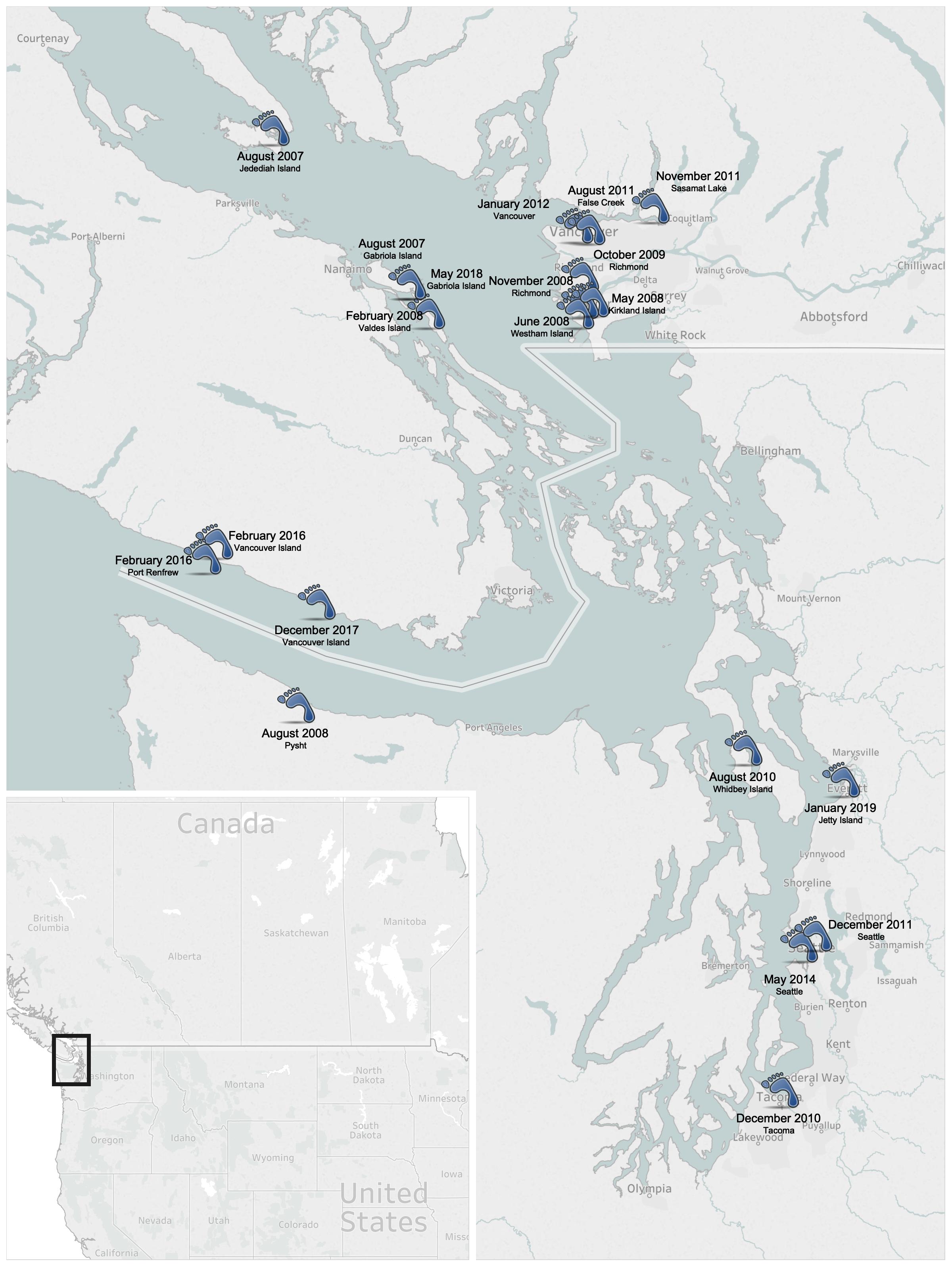 Salish Sea Human Foot Discoveries Wikipedia