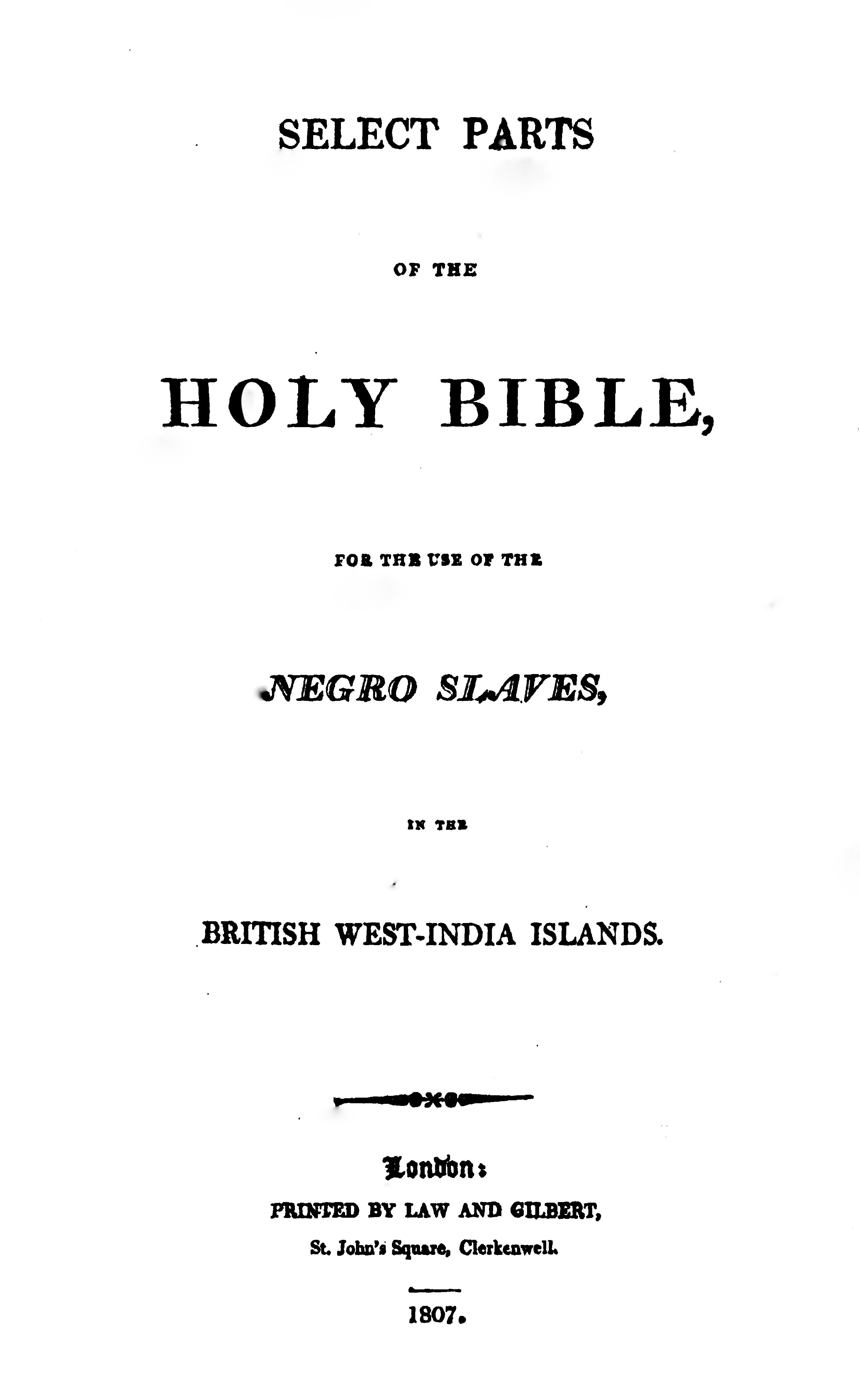 Slave bible - Wikipedia